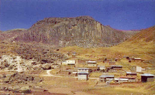 Village of Huayllay where tourist information and guides for your trip are available